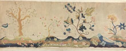 Crewel Embroidery Valance