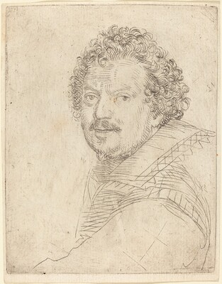 A Man with a Moustache and Goatee, Facing Forward