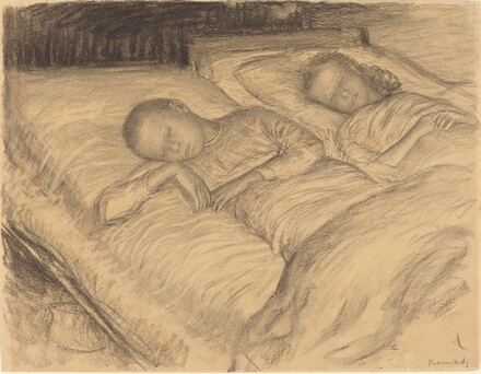 The Artist's Children Wolf and Anna Asleep