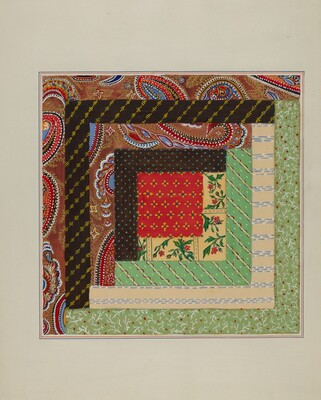 Log Cabin Quilt Square
