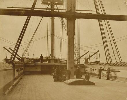 "Quarterdeck of HMS ""Impregnable"""