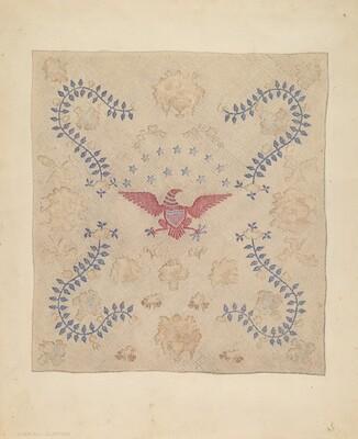 Eagle and Stars Bedspread