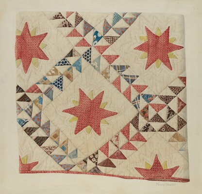 Quilt (Star and Triangle)
