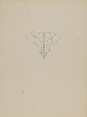 Evening Bodice, Line Drawing