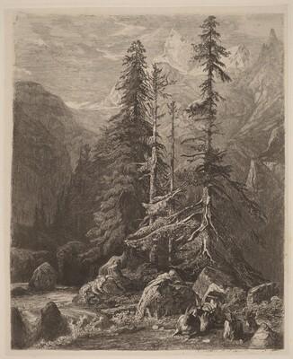 Essais de gravure à l'eau forte par Alexandre Calame, I, pl. 21