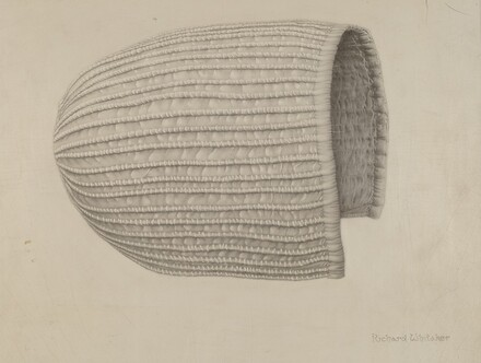 White Linen Corded Bonnet