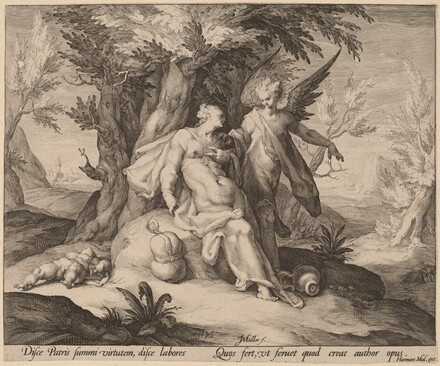 Hagar in the Desert Consoled by an Angel