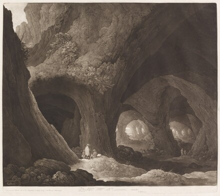 Travelers in Gigantic Caverns (after Guillam Dubois)