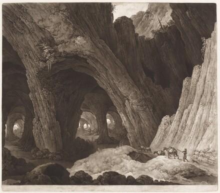 Travelers Resting in Gigantic Caverns (after Guillam Dubois)