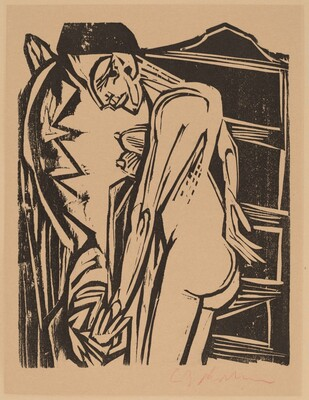 Female Nude Before a Cabinet