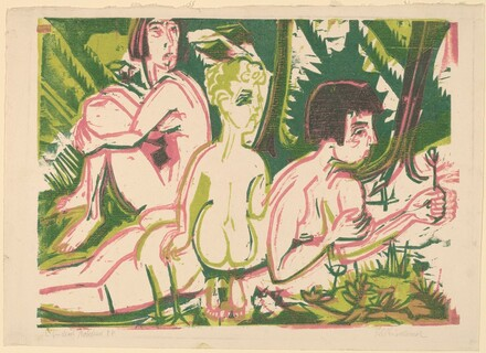 Nude Women with a Child in the Forest