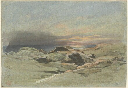Sunset from a Rocky Coastline