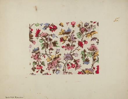 Flowered Challis Gown