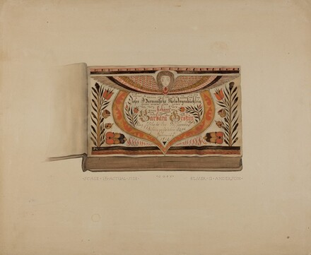 Illuminated Title Page from Manuscript Songbook
