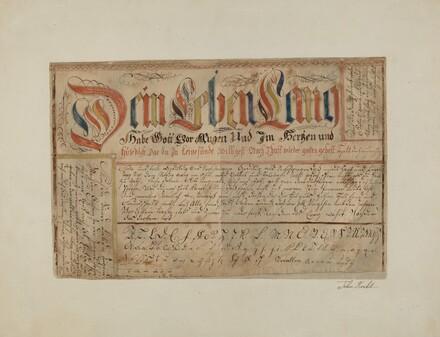 Fractur (Illuminated Writing)