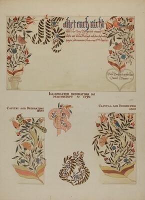 Pa. German Fractur Designs