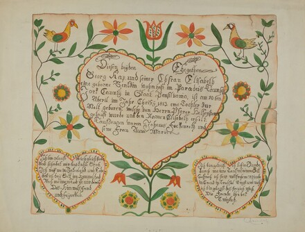 Fraktur - Birth and Baptismal Certificate