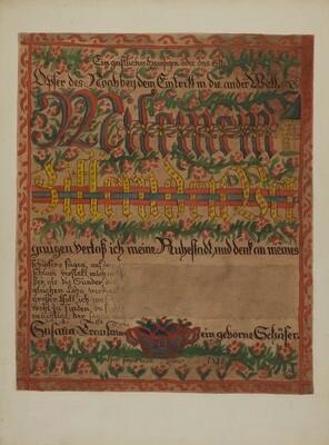 Pa. German Death Certificate
