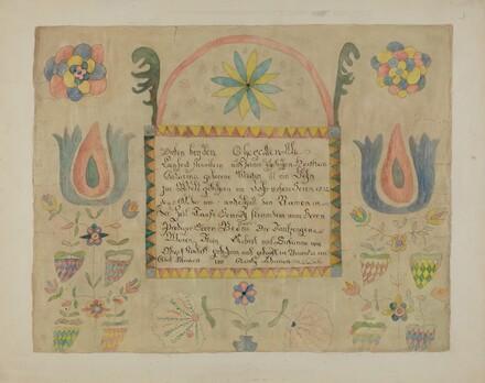 Pa. German Birth Certificate