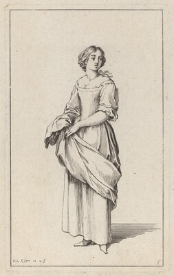 Standing Young Peasant Woman