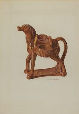 Pa. German Ceramic Horse