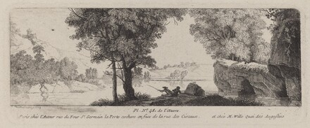 River Landscape with an Angler