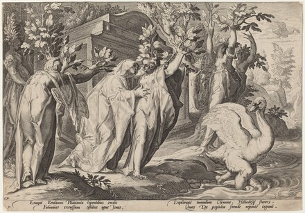 Phaeton's Sisters Changed into Poplars, and Cygnus into a Swan