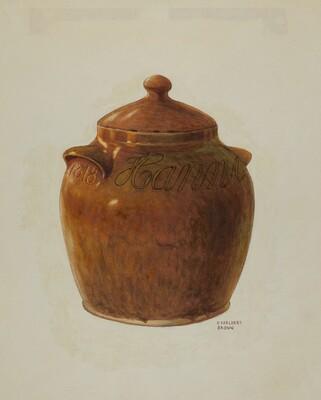 Pa. German Jar with Lid