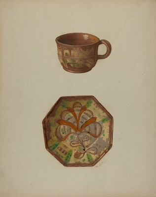 Pa. German Cup and Saucer