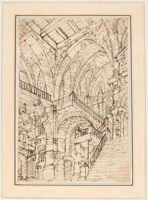 A Prison Interior with a Monumental Staircase