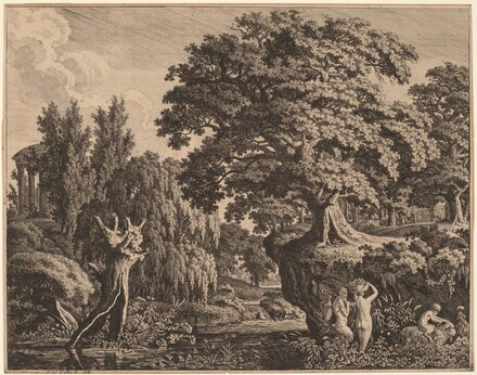 Arcadian Landscape with a Satyr Family