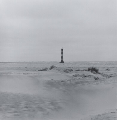 Folly Beach looking towards Morris Island, 1999