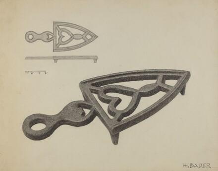German Flat-iron Holder