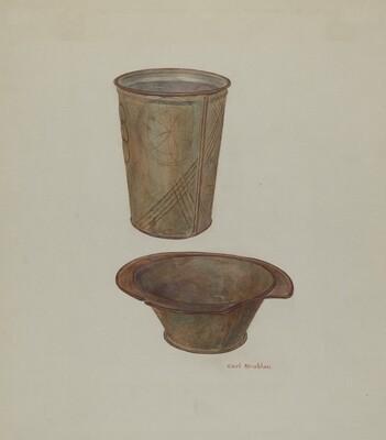 Pa. German Shaving Mug and Basin