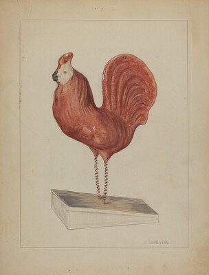 Pa. German Toy Bellows Rooster