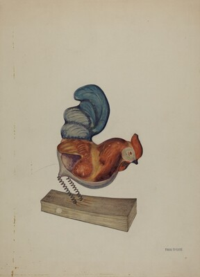 Pa. German Squeak Toy Rooster
