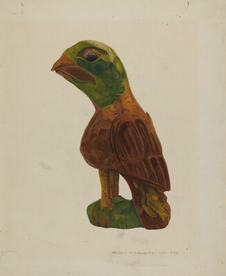 Pa. German Carved Bird