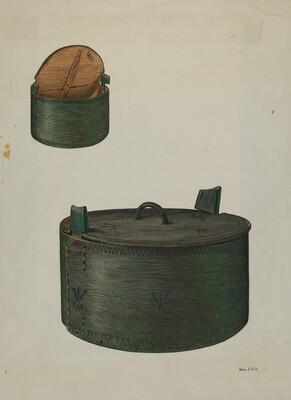 Pa. German Bride's Hat Box