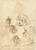 Studies of Christ Healing the Blind Man, Saint Philip Benizzi, and Saint Sebastian