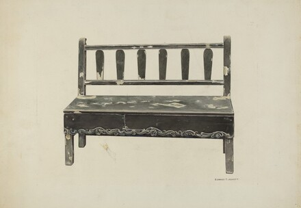 Spanish Colonial Mission Bench