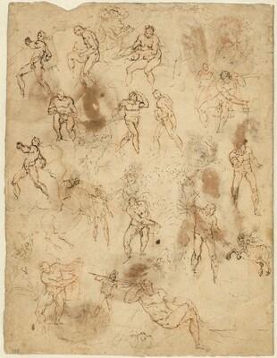 Studies of Figures (verso)