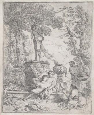 Pan Reclining before a Herm