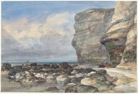 The Rocky Beach and Cliffs at Fécamp
