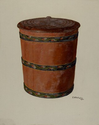 Pa. German Pail and Cover