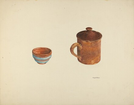 Zoar Dish and Coffee and Cider Cup w/ Lid