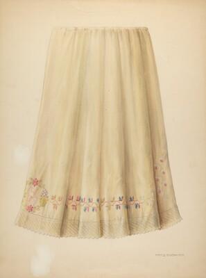 Zoar Embroidered Flannel Petticoat