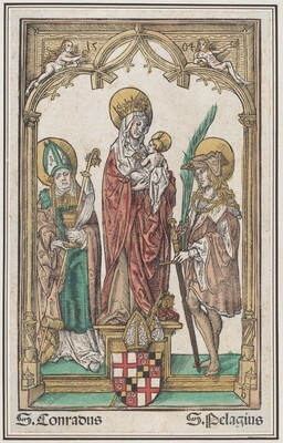 The Virgin and Child with Saint Conrad and Saint Pelagius