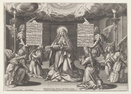 Magnificat: The Virgin Surrounded by Music-Making Angels