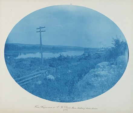 From Wagon Road at S. St. Paul, Minn. Looking Downstream