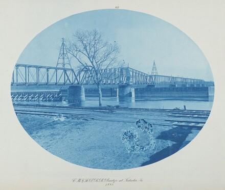 C.M. & St. P. RR Bridge at Sabula, Ia.